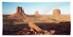 Beach Towel featuring the photograph Monument Valley, Utah by A Gurmankin
