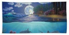 Moonlit Sanctuary Beach Sheet by Al Hogue