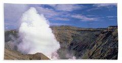 Beach Sheet featuring the photograph Mount Aso by Travel Pics