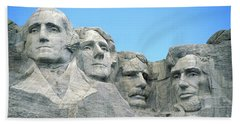 Mount Rushmore Beach Towel by American School