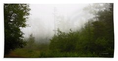 Beach Towel featuring the photograph Mountain Forest Thicket In Fog by A Gurmankin