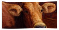 Mrs. O'leary's Cow Beach Towel by James W Johnson