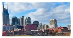 Nashville Panorama View Beach Sheet by Frozen in Time Fine Art Photography