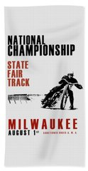 National Championship Milwaukee Beach Towel by Mark Rogan
