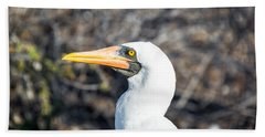Nazca Booby View Beach Sheet by Jess Kraft