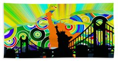 New York City Colors Beach Sheet by Stefano Senise