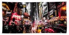 New York City Night II Beach Towel by Nicklas Gustafsson
