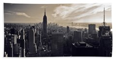 New York Beach Towel by Dave Bowman