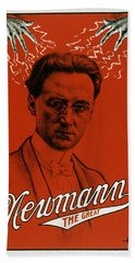 Newmann The Great - Vintage Magic Beach Towel by War Is Hell Store