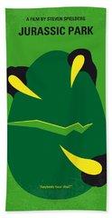 No047 My Jurassic Park Minimal Movie Poster Beach Towel by Chungkong Art