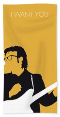 No067 My Elvis Costello Minimal Music Poster Beach Towel by Chungkong Art