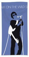 No068 My Lou Reed Minimal Music Poster Beach Towel by Chungkong Art
