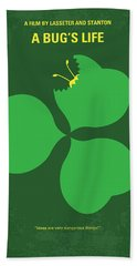 No401 My A Bugs Life Minimal Movie Poster Beach Towel by Chungkong Art