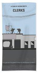 No715 My Clerks Minimal Movie Poster Beach Sheet by Chungkong Art