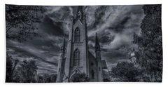 Notre Dame University Church Beach Towel by David Haskett