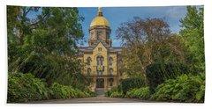 Notre Dame University Q Beach Sheet by David Haskett