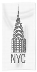 Nyc New York City Graphic Beach Towel by Edward Fielding