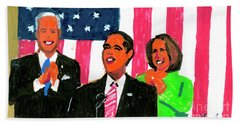 Obama's State Of The Union '10 Beach Sheet by Candace Lovely