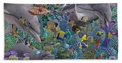 Ocean Circus Beach Sheet by Betsy Knapp