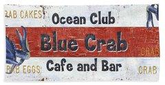 Ocean Club Cafe Beach Towel by Debbie DeWitt