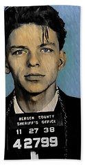 Old Blue Eyes - Frank Sinatra Beach Towel by Bill Cannon