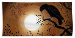 Ominous Bird Of Yore Beach Towel by Laura Iverson
