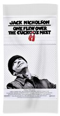 One Flew Over The Cuckoo's Nest Beach Towel by Movie Poster Prints