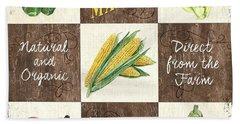 Organic Market Patch Beach Towel by Debbie DeWitt