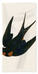 Oriental Chimney Swallow Beach Towel by English School