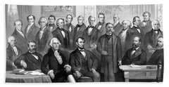 Our Presidents 1789-1881 Beach Towel by War Is Hell Store