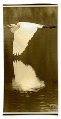 Over Golden Pond Beach Towel by Carol Groenen