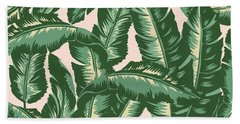Palm Print Beach Towel by Lauren Amelia Hughes