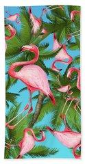 Palm Tree Beach Towel by Mark Ashkenazi