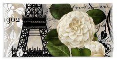 Paris Blanc I Beach Towel by Mindy Sommers