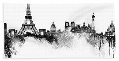 Paris Skyline Italy Beach Sheet by Prar Kulasekara