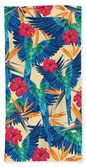 Parrots Beach Towel by Marta Balcerzak