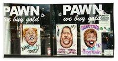 Pawn Shop Humor Beach Towel by Allen Beatty