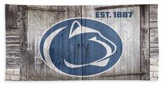 Penn State Football // Old Barn Doors Beach Sheet by Tim Miklos