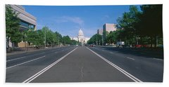 Pennsylvania Avenue, Washington Dc Beach Sheet by Panoramic Images