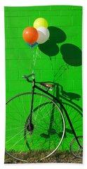 Penny Farthing Bike Beach Towel by Garry Gay