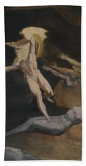 Perseus Slaying The Medusa Beach Towel by Henry Fuseli
