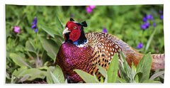 Pheasant Beach Towel by Martin Newman