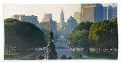 Philadelphia Benjamin Franklin Parkway Beach Sheet by Bill Cannon