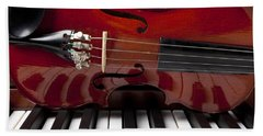 Piano Reflections Beach Towel by Garry Gay