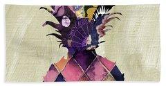 Pineapple Brocade II Beach Towel by Mindy Sommers