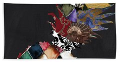 Pineapple Brocade Beach Towel by Mindy Sommers