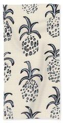 Pineapple Print Beach Towel by Anne Seay