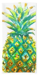 Pineapple Window To The Tropics Beach Towel by Carlin Blahnik