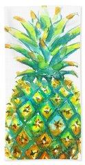 Pineapple Window To The Tropics Beach Sheet by Carlin Blahnik