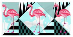 Ping Flamingo Beach Towel by Mark Ashkenazi